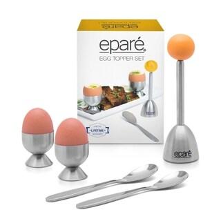 Epare Egg Cracker Topper Set - Soft Hard Boiled Shell Remover & Cutter