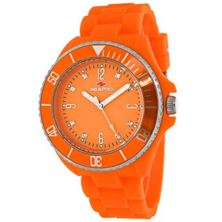 Seapro Women's Bubble Round Orange Strap Watch