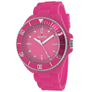 Seapro Women's SP7416 Bubble Round Pink Strap Watch