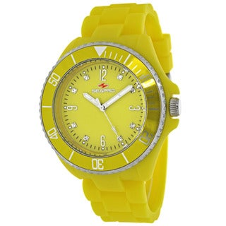 Seapro Women S SP7417 Bubble Round Yellow Strap Watch