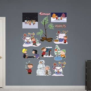 Fathead Peanuts Christmas Collection Wall Decals