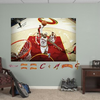 Fathead Lebron James Dunk Mural Wall Decals