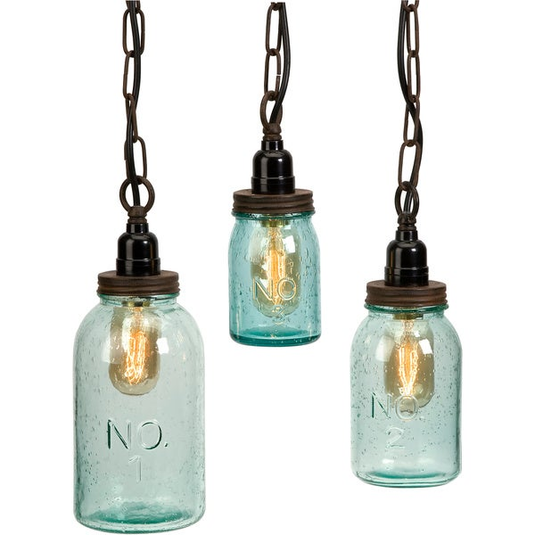 Lexington mason jar pendant lights set of 3 free shipping today lexington mason jar pendant lights set of 3 aloadofball Image collections