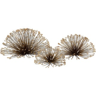 Laserette Wire Flower Wall Decor (Set of 3)