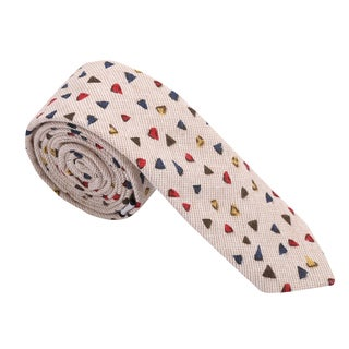Skinny Tie Madness Men's Cotton Printed Skinny Tie