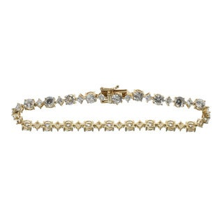 Michael Valitutti Sterling SIlver Cubic Zirconia Tennis Bracelet