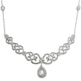 Michael Valitutti Sterling Silver and Cubic Zirconia 'Royal' Necklace