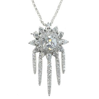 Michael Valitutti Sterling Silver and Cubic Zirconia Necklace