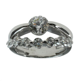 Valitutti Signity Sterling Silver Cubic Zirconia Ring