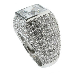 Michael Valitutti Sterling Silver Pave Cubic Zirconia Ring