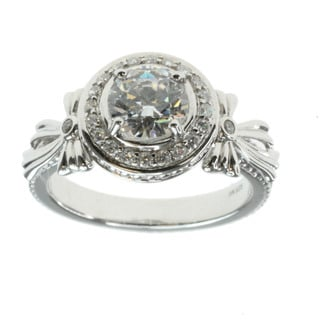 """Michael Valitutti Sterling Silver Cubic Zirconia 'Bow"""" Ring"""