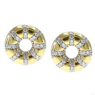 Michael Valitutti Gold Over Silver 'Donut' Stud Earrings