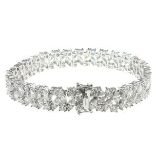 Michael Valitutti Sterling Silver Marquise Tennis Bracelet