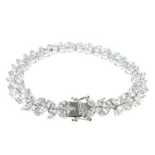 Michael Valitutti Sterling Silver 'Flower' Tennis Bracelet