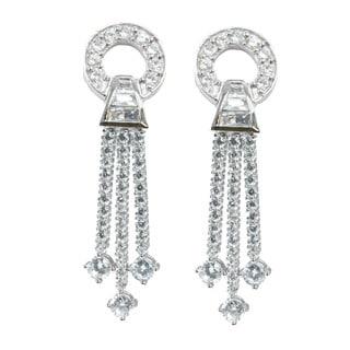 Michael Valitutti Cubic Zirconia Drop Dangle Earrings