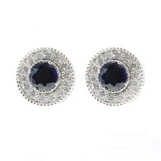 Michael Valitutti Created Blue Sapphire Stud Earrings