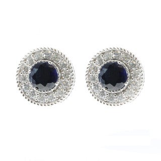 Michael Valitutti Created Blue Sapphire Stud Earrings