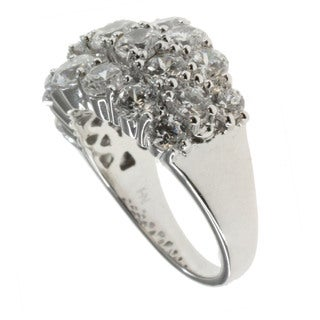 Michael Valitutti Sterling Silver Round-cut Cubic Zirconia Ring