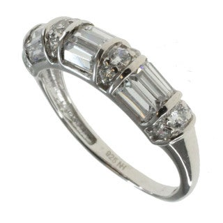 Michael Valitutti Sterling Silver Channel-set Cubic Zirconia Ring