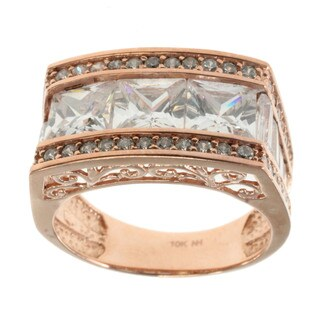 Michael Valitutti 14k Rose Gold Cubic Zirconia Ring