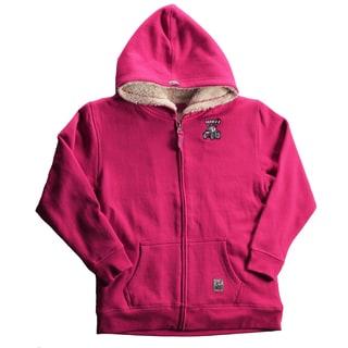 Case IH Girls Magenta Sherpa-lined Hoodie