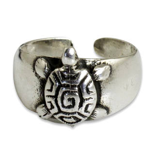 Handmade Sterling Silver 'Walk Slowly' Toe Ring (Thailand)