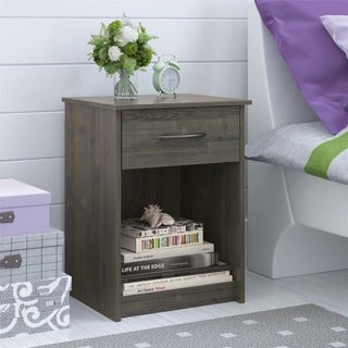 Ameriwood Home Core Dark Grey Oak Night Stand. Wood Nightstands   Bedside Tables   Shop The Best Brands Today