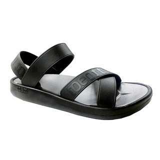 TOEOT Men's Black TA Customizable Sandals