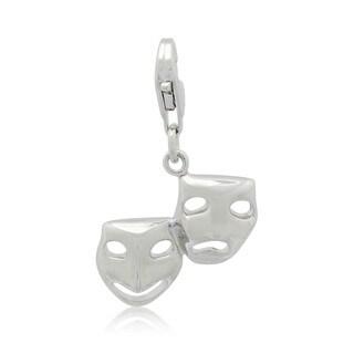 Gioelli Sterling Silver Comedy and Tragedy Masks Charm