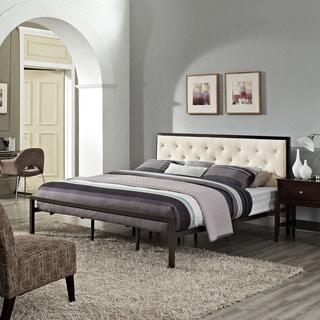 Link to Porch & Den Hamilton Mia Fabric King Platform Bed Frame Similar Items in Bedroom Furniture