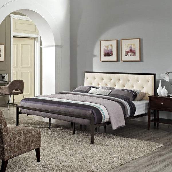 Porch & Den Hamilton Mia Fabric King Platform Bed Frame