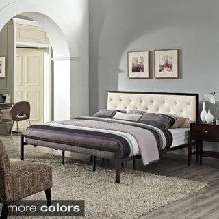 Mia Fabric King Platform Bed Frame