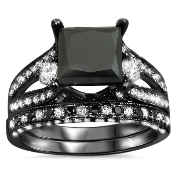 Shop Noori 18k Black Gold 4 Ct Ugl Certified Black Princess Cut
