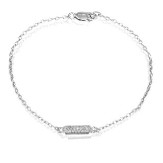 DB Designs Sterling Silver 1/8ct TDW Diamond Bracelet (I-J, I2-I3)