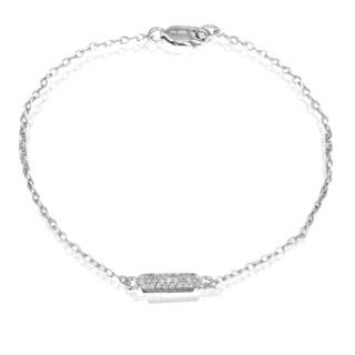 DB Designs Sterling Silver 1/8ct TDW Diamond Bracelet