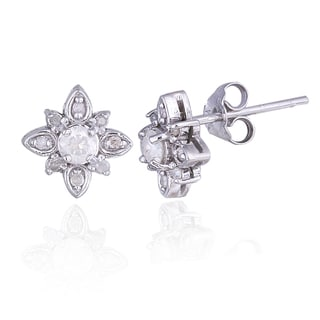 DB Designs Sterling Silver 1/3ct TDW Diamond Star Stud Earrings (I-J, I2-I3)