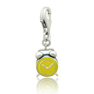 Gioelli Sterling Silver Enamel Alarm Clock Charm