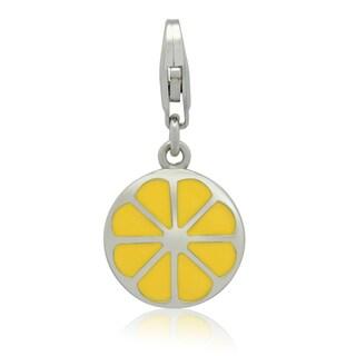 Gioelli Sterling Silver Enamel Lemon Charm