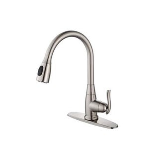 Kraus Single Lever Pull out kitchen Faucet in Satin Nickel (As Is Item)