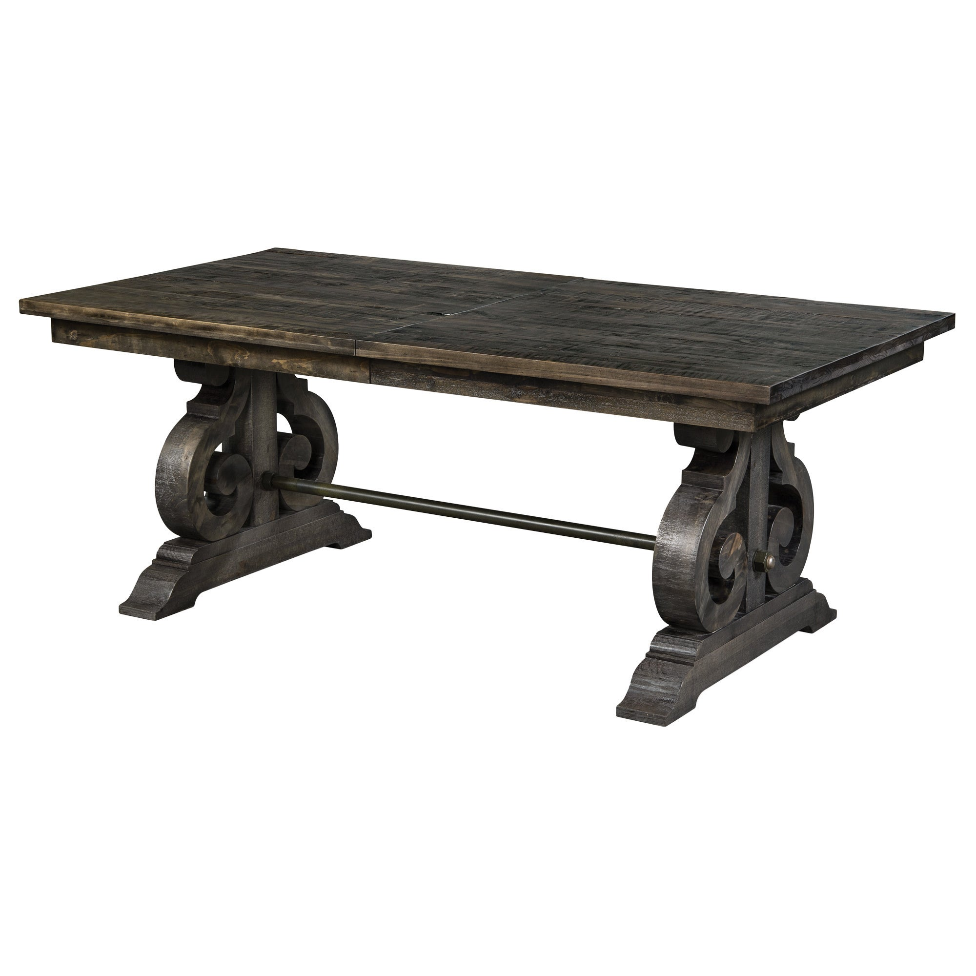 Shop Gracewood Hollow Barbara Aged Wood Rectangular Dining Table - Aged wood dining table