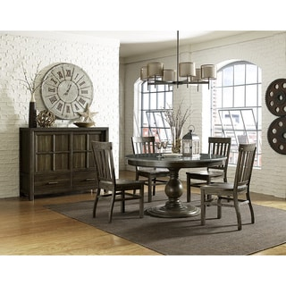 Magnussen Karlin Bluestone Top Wood Round Dining Table