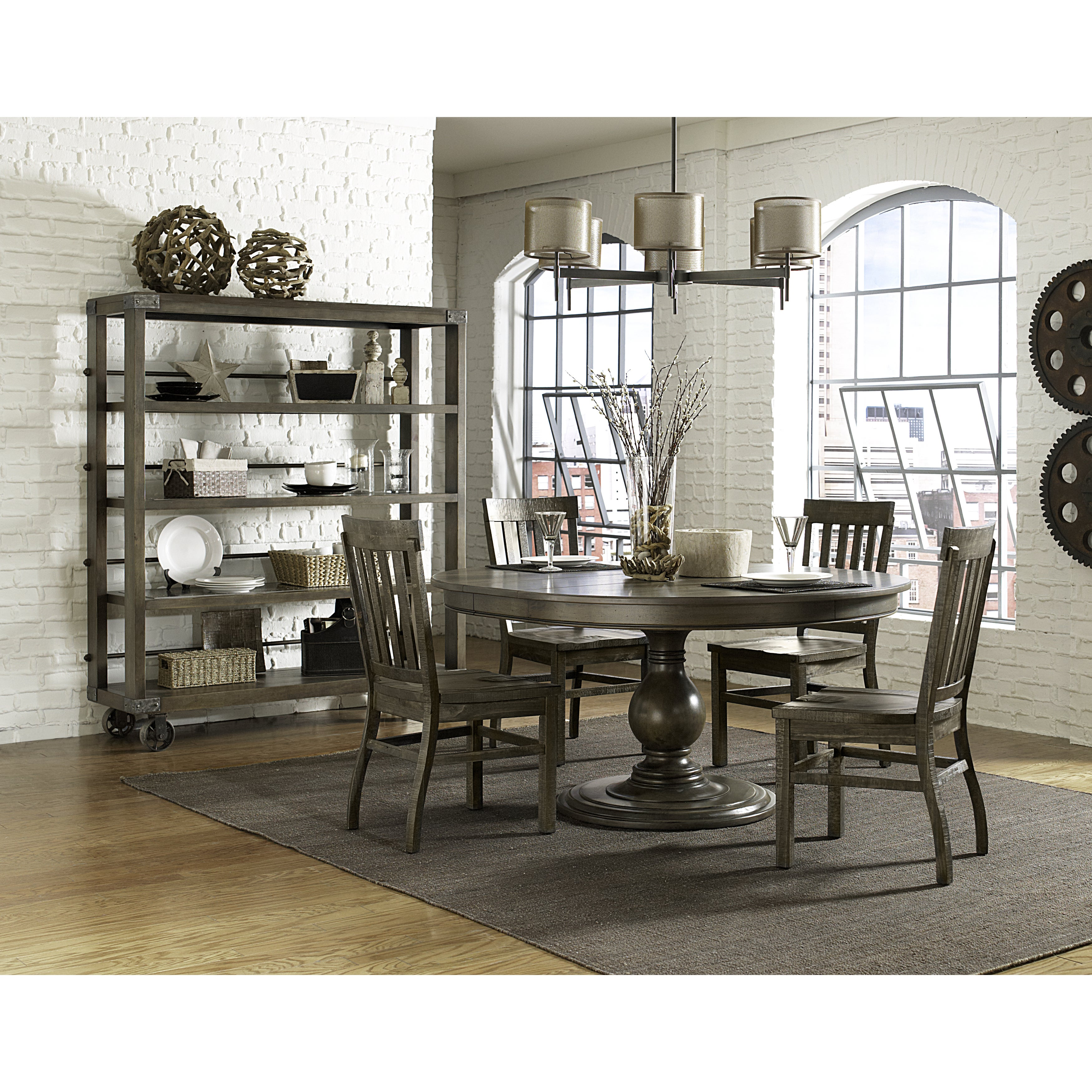 Magnussen D2471 Karlin Wood Round Dining Table With Top Brown