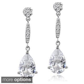 ICZ Stonez Silver Cubic Zirconia Teardrop Earrings