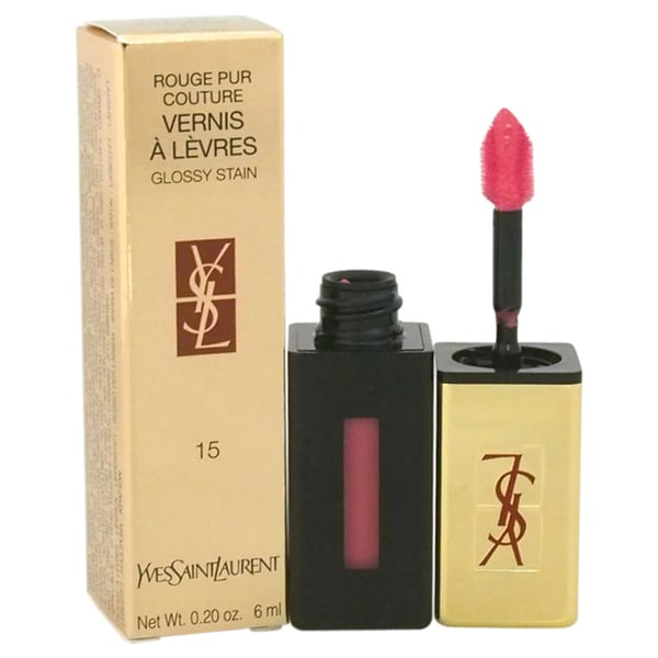 Yves Saint Laurent Rouge Pur Couture Vernis A Levres Glossy Stain #15 Rose Vinyl