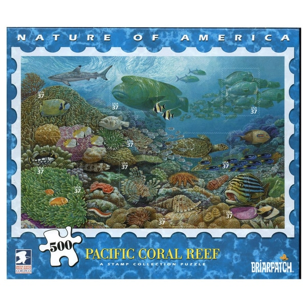 USPS Nature America Pacific Coast Coral Reef Stamp Collection 500-piece Puzzle