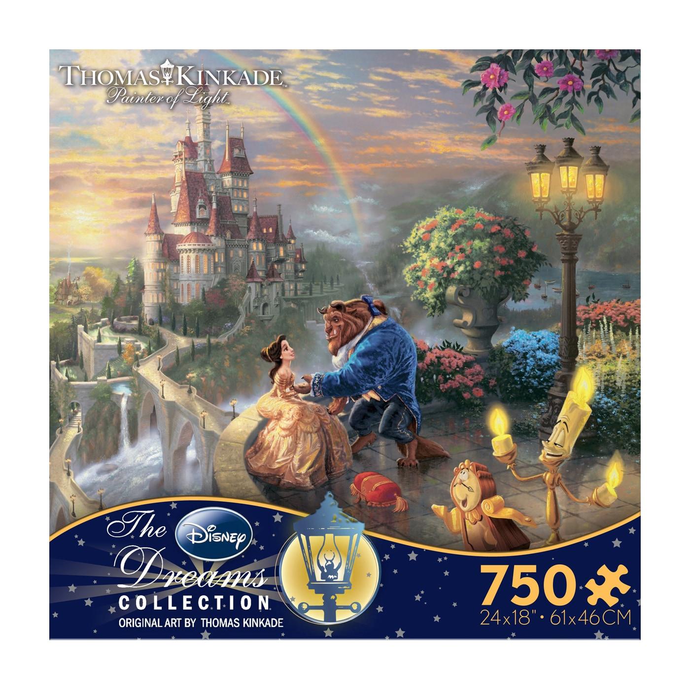 Ceaco Thomas Kinkade Disney Dreams Beauty and the Beast F...