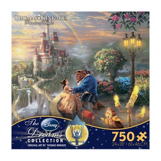 Thomas Kinkade Disney Dreams Beauty and the Beast Falling in Love 750-piece Puzzle
