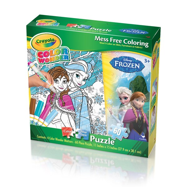 Crayola Color Wonder Disney Frozen 60-piece Puzzle - Free Shipping ...