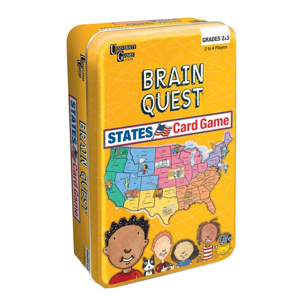 Brain Quest States Card Game Tin
