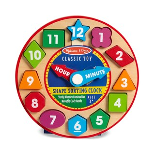 Melissa & Doug Shape Sorting Children's Clock